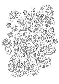 GRATUIT: Desene si planse de colorat pentru adulti Paisley Coloring Pages, Tree Coloring Page, Pattern Coloring Pages, Colouring Pages, Printable Coloring Pages, Free Coloring, Adult Coloring Pages, Coloring Books, Zentangle Patterns