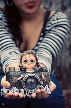 Lindeza de máquina fotográfica - bonequinha...