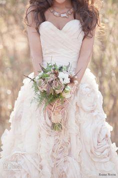 bohemian wedding dresses | Bohemian Bridal Shoot — Featuring Sareh Nouri Wedding Dresses ...