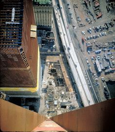 WTC Twin Towers under construction.