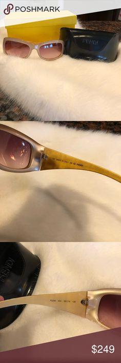 Authentic Fendi Sunglasses, Style FS299 Taupe Color, Perfect Condition with Original Box, Case, and Certificate of Authentication. Fendi Accessories Sunglasses