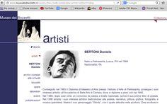 """Daniele Bertoni (1969), scultore. Ex allievo dell'Istituto Statale d'Arte """"Stagio Stagi"""" di Pietrasanta (Lu)."""