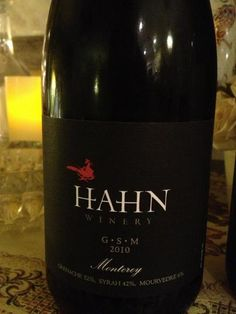 Hahn Winery 2010 Monterey GSM. A delicious red wine from California. Tasting Notes on A Good Time With Wine