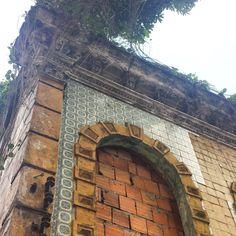 Azulejo no abandonado Palacete Faciola - Belém/PA. Foto: Greyce Sousa Guerra.