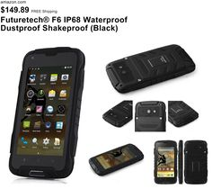 Futuretech® F6 IP68 Waterproof Dustproof Shakeproof Smartphone Rugged Android 4.4 Phone Mtk6582w, Quad Core, 1.3ghz; 1GB RAM+8GM ROM WIFI 3G Unlock Smartphone GSM/WCDMA Built-in GPS + Compass Outdoor Hiking Traveling Smartphone (Black)