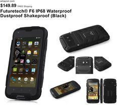 Futuretech® F6 IP68 Waterproof Dustproof Shakeproof Smartphone Rugged Android 4.4 Phone Mtk6582w, Quad Core, 1.3ghz; 1GB RAM+8GM ROM WIFI 3G Unlock Smartphone GSM/WCDMA Built-in GPS + Compass Outdoor Hiking Traveling Smartphone (Black)