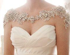 Crystal Bridal Bolero Bridal Shoulder by abigailgracebridal