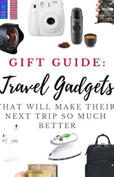 Holiday Gift Guide Best Travel Gadgets for 2020-  Looking for travel gifts this season? These travel tools and gadgets have often been considered life-savers for todays travelers Best Travel Gadgets, New Gadgets, Travel Hacks, Iphone Gadgets, Kitchen Gadgets, Group Travel, Family Travel, Holiday Gift Guide, Holiday Fun
