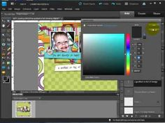 Digital Scrapbook Tutorial -- Coloring Text to Match Your Layout