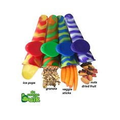 Siliconen ijsvormpjes | Slim snack. Afsluitbaar en lekdicht. Hippe en voedselvriendelijke vormpjes om heerlijke ijsjes mee te maken. Geen vieze handen meer!