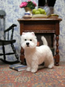 I started him when I thought Yancey and kitty were lost forever. Which is the reason I made another West Highland Terrier. I gave him a sl...