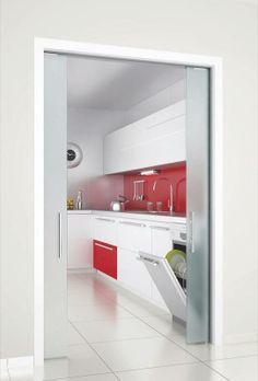 System for lateral bi fold pocket doors hawa folding - Tabiques de cristal ...