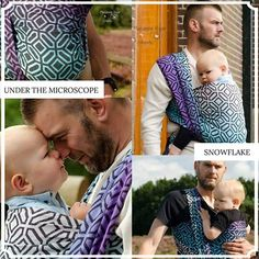 Baby Carrier Wrap Under The Microscope Snowflake, made by Wrapahula Wovens, in pattern Under The Microscope, contains cotton Limited Edition, released 22 September thickness 260 Baby Carrying, Easy Wrap, Baby Wrap Carrier, Baby Wearing, Snowflakes, Wraps, Pattern, Snow Flakes, Coats