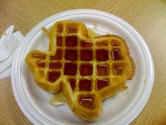 Texas waffle - i need to get a texas shaped waffle maker as a christmas gift! Miss Texas, Only In Texas, Texas Toast, Texas Forever, Loving Texas, Texas Pride, Serious Eats, Down South, I Love Food