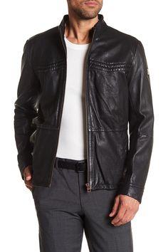 Oxblood leather jacket mens
