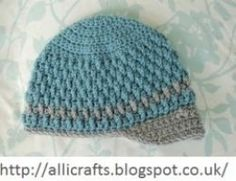 free crochet baby hat pattern-Deeply Textured Baby Hat