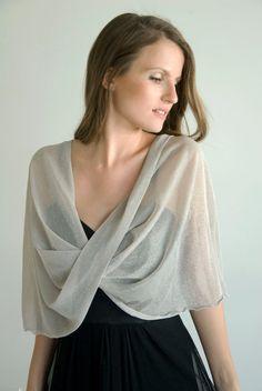 Silver sparkling shawl