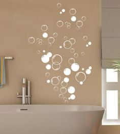 Shower decals. Bathroom Vinyl wall stickers, can be cut by cricut and done in white and pink!