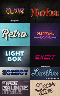 35+ Free Photoshop Layer Styles To Create Awesome Text Effects - Fusionplate.com