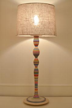 Turned Wooden Lamp Base: Large Turned Wood Lamp Base No.118 by Sarah Lock - Radiance,Lighting
