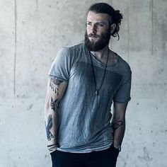 This fantastically freckled fellow. | 23 Beard And Man Bun Combinations That Will Awaken You Sexually