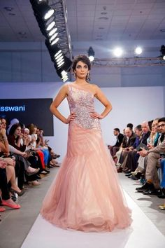 Pink engagement dress by zainab al Kisswani