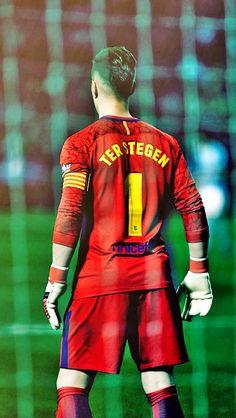 Ter Stegen number one 1 Barcelona Team, Barcelona Champions League, Soccer Art, Soccer Poster, Poster S, Cr7 Messi, Ronaldo Juventus, Football Boys, World Football