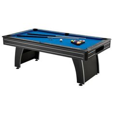 GLD Billiards Fat Cat Tucson Billiard Table (719265518754) Assembled Dimensions: 84in L x 46in W x 31.25in H / Weight: 200 lbs. Includes an 18mm MDF Playing Surface Arcade Style Design Includes Rubber Bumpers Features a Ball Return System