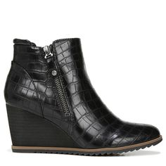 Wedge Ankle Boots, Ankle Booties, Bootie Boots, Shoe Boots, Aldo Boots, Gothic Shoes, Casual Boots, Black Booties, Womens Slippers