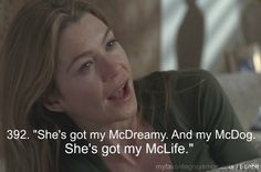 "Meredith Grey. From season 2, ep. 25: ""It's the End of the World"""