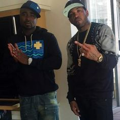 Lloyd Banks and Young Buck Lloyd Banks, Young Buck, Rapper, Captain Hat, Best Friends, Finger, Middle, Fashion, Beat Friends