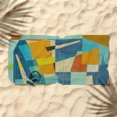 Don Quixote and the Windmill Beach Towel