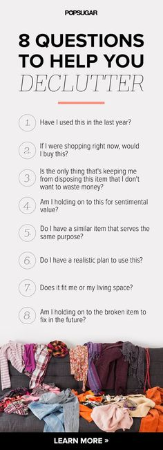 8 simple but PRACTICAL questions that'll help you to declutter your home…