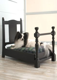 Made from an old chair.would make an adorable doll bed for a little girl's playhouse! Dog Furniture, Repurposed Furniture, Old Chairs, Dining Chairs, Dining Room, Do It Yourself Design, Diy Dog Bed, Dog Rooms, Doll Beds