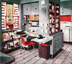 Love the work/mail center connected to the kitchen.