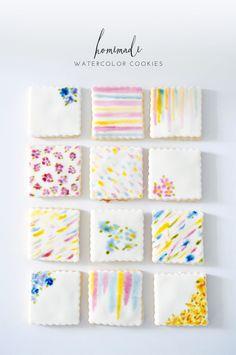 Watercolor Cookies | lark & linen