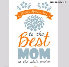 FREE Printable Mother's Day Card by Partymazing