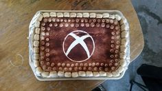 The best cake ever!  Xbox tiramisu cake!