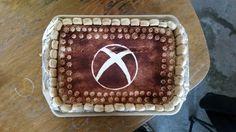 The best cake ever!  Xbox tiramisu cake!