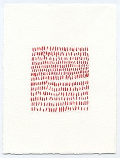 Untitled Square 1, thread and paper, 2010, Emily Barletta