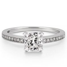 Lalana w/ 1.7 carat Cushion Forever One Moissanite from Do Amore