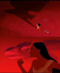 """Pocahontas- the imagery of eagles here in this movie is an inpsiration for an eagle tattoo i want. especially that scene when in """"colors of the wind"""" when john smith has the silhouette of the eagle on his chest..."""