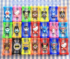 Silicone 3D Cartoon Universal Phone Frame Bumper For DEXP Ixion ES5 ES25 ML150 M LTE ES145 EL150 ES2 M350 M150 Back Cover Shell