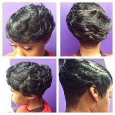 Sweet Hairstyles, Dope Hairstyles, Weave Hairstyles, Straight Hairstyles, Layered Hairstyles, Hairstyle Ideas, Short Sassy Hair, Short Hair Cuts, Black Hair Curls