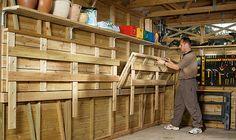 DIY, pulldown workbench for the garage.