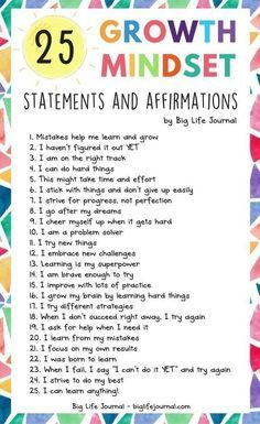 25 Growth Mindset Statements and Affirmations 25 Growth Mindset Statements and Affirmations,social skills 25 Growth Mindset Statements and Affirmations – Big Life Journal Related posts:Social Emotional Learning Shirt / Counselor Shirt / Teacher Shirts. Motivation Positive, Positive Mindset, Motivation For Kids, Positive Self Talk, Positive Outlook, Positive Vibes, Education Positive, Education Quotes, Values Education