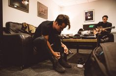 Pre show getting ready. Panic! At The Disco, July 2016
