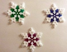 Glittered Snowflakes by SkellieBeads