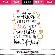 photo relating to I Can't Say I Do Without You Free Printable referred to as 17 Least difficult Maid of honor visuals within 2018 Bridesmaids