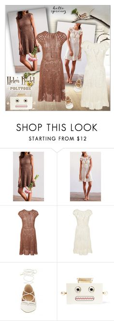 """""""CROCHET - Dress"""" by alves-nogueira ❤ liked on Polyvore featuring Helen Rödel and Charlotte Olympia"""